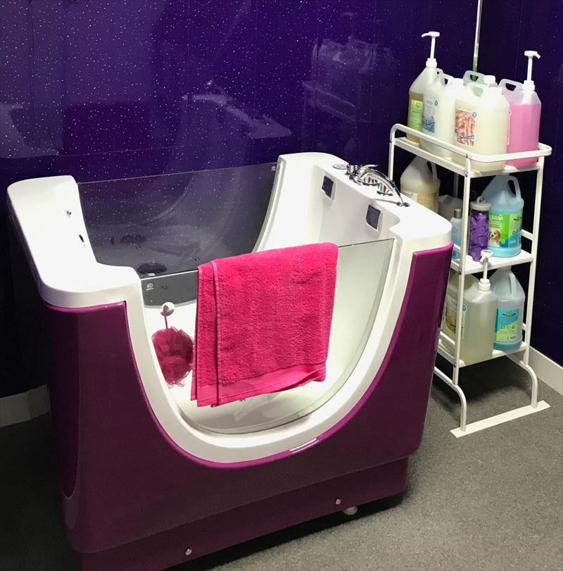 Jacuzzibath bark 39 n 39 bubbles for A bath and a biscuit grooming salon